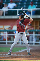 Idaho Falls Chukars Clay Dungan (20) at bat during a Pioneer League game against the Orem Owlz at The Home of the OWLZ on August 13, 2019 in Orem, Utah. Orem defeated Idaho Falls 3-1. (Zachary Lucy/Four Seam Images)