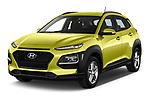 2018 Hyundai Kona Twist 5 Door SUV angular front stock photos of front three quarter view