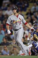 Matt Holliday #7 of the St.Louis Cardinals bats against the Los Angeles Dodgers at Dodger Stadium on May 18, 2012 in Los Angeles,California. Los Angeles defeated St.Louis 6-5.(Larry Goren/Four Seam Images)