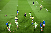 4th November 2020; Vicarage Road, Watford, Hertfordshire, England; English Football League Championship Football, Watford versus Stoke City; Stoke City players warm up ahead of kick off.