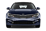 Car photography straight front view of a 2017 KIA Optima-Sportswagon Fusion 5 Door Wagon Front View
