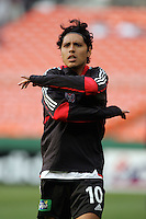 7 May 2005.  Christian Gomez (10) of DC United stretches before the beginning of the game against the Columbus Crew at RFK Stadium in Washington, DC.