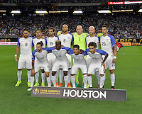 Houston, TX - Tuesday June 21, 2016: USA Starting XI prior to a Copa America Centenario semifinal match between United States (USA) and Argentina (ARG) at NRG Stadium.