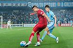 Shanghai FC Forward Elkeson De Oliveira Cardoso (L) fights for the ball with Jiangsu FC Midfielder Zhang Xiaobin (R) during the AFC Champions League 2017 Round of 16 match between Jiangsu FC (CHN) vs Shanghai SIPG FC (CHN) at the Nanjing Olympic Stadium on 31 May 2017 in Nanjing, China. Photo by Marcio Rodrigo Machado / Power Sport Images
