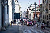 rolling out of Milan<br /> <br /> 112th Milano-Sanremo 2021 (1.UWT)<br /> 1 day race from Milan to Sanremo (299km)<br /> <br /> ©kramon