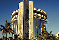 Flamboyant architecture marks the Barnett Bank          Postmodern architecture, ornamental,. Fort Lauderdale Florida, Oakland Park Boulevard.