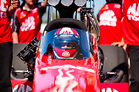 Oct 14, 2019; Concord, NC, USA; NHRA top fuel driver Doug Kalitta during the Carolina Nationals at zMax Dragway. Mandatory Credit: Mark J. Rebilas-USA TODAY Sports