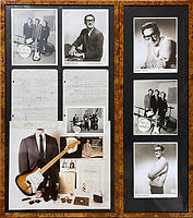 BNPS.co.uk (01202) 558833<br /> Pic: OmegaAuctions/BNPS<br /> <br /> Two pages of Buddy Holly's biology homework have emerged for sale for £3,000.<br /> <br /> The future rock 'n' roll star clearly took his academic life seriously as he made diligent notes about cells, tissues and organs.<br /> <br /> The 16 year old's work, dated October 16, 1952, was graded a 'B' in red pen by a teacher at Lubbock night school in his native Texas, US.<br /> <br /> At the time, Holly had made some local TV appearances but it was not until the following year that he founded the group 'Buddy and Bob'.
