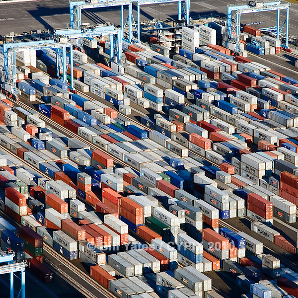 APM Container Terminal Port of Virginia Portsmouth helicopter aerial