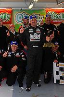 25-26 April, 2009, Kansas City, Kansas, USA.Mike Skinner and team in Victory Lane..©F. Peirce Williams 2009 USA.LAT Photographic