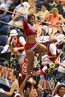 8 April 2008: Stanford Cardinal cheerleaders during Stanford's 64-48 loss against the Tennessee Lady Volunteers in the 2008 NCAA Division I Women's Basketball Final Four championship game at the St. Pete Times Forum Arena in Tampa Bay, FL.