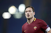 Football Soccer: Europa League Round of 16 second leg, Roma-Lyon, stadio Olimpico, Roma, Italy, March 16,  2017. <br /> Roma's Francesco Totti in action during the Europe League football soccer match between Roma and Lyon at the Olympique stadium, March 16,  2017. <br /> Despite losing 2-1, Lyon reach the quarter finals for 5-4 aggregate win.<br /> UPDATE IMAGES PRESS/Isabella Bonotto
