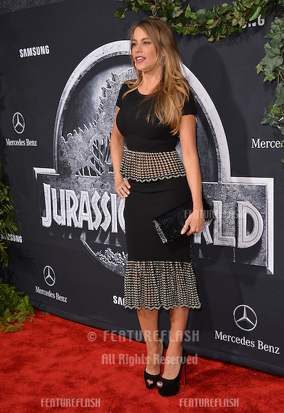 """Sofia Vergara at the world premiere of """"Jurassic World"""" at the Dolby Theatre, Hollywood.<br /> June 10, 2015  Los Angeles, CA<br /> Picture: Paul Smith / Featureflash"""