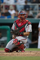 Lake Elsinore Storm catcher Marcus Greene Jr. (6) during a California League game against the Modesto Nuts at John Thurman Field on May 12, 2018 in Modesto, California. Lake Elsinore defeated Modesto 4-1. (Zachary Lucy/Four Seam Images)