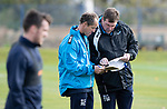 St Johnstone Training….Manager Tommy Wright and Assistant Manager Alec Cleland pictured during training at McDiarmid Park ahead of Sundays game against Celtic.<br />Picture by Graeme Hart.<br />Copyright Perthshire Picture Agency<br />Tel: 01738 623350  Mobile: 07990 594431