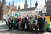 Press conference by The Campaign Against Climate Change as the One Million Climate Jobs caravan sets of from London. 12-5-12