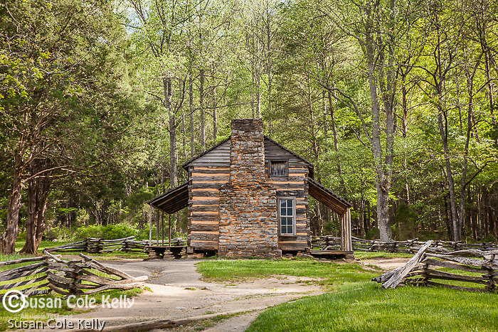 The John Oliver place in Cades Cove, Great Smoky Mountains National Park, TN, USA