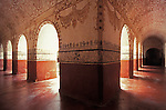 Murals and arches in  the Ex-Convento Dominico de la Natavidad in Tepotzlan, Morelos, Mexico. This Dominican monastery was built between 1560 qnd 1588. The monastery now houses a regional history museum. This convent is a UNESCO World Heritage Site.