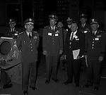 Pittsburgh PA:  US Army General Robert Wood and staff touring the new radar systems installed at the Oakdale NIKE site. The Oakdale site became the command and control center for all the regional NIKE sites after the installation.  <br /> Brady Stewart Jr. was authorized to photograph the press conference and tour the new command center due to being a US Army staff photographer during WWII.
