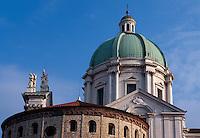 Italien, Lombardei, Alter und neuer Dom in Brescia