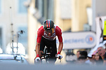Thomas De Gendt (BEL) Lotto-Soudal leader until the last rider during Stage 13 of the 2019 Tour de France an individual time trial running 27.2km from Pau to Pau, France. 19th July 2019.<br /> Picture: Colin Flockton | Cyclefile<br /> All photos usage must carry mandatory copyright credit (© Cyclefile | Colin Flockton)