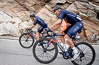 Gianni Moscon (ITA/Ineos Grenadiers) up the Passo San Bernardino (2065m/SUI)<br /> <br /> 104th Giro d'Italia 2021 (2.UWT)<br /> Stage 20 (through Switzerland) from Verbania to Valle Spluga-Alpe Motta (164km)<br /> <br /> ©kramon