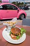 Hamburger, Big Pink Restaurant, Miami, Florida