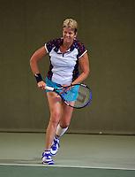 Hilversum, The Netherlands, 05.03.2014. NOVK ,National Indoor Veterans Championships of 2014 , Sylvia Lievers-Kronenburg (NED)<br /> Photo:Tennisimages/Henk Koster