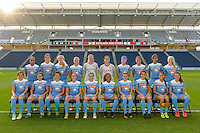 Chicago, IL - Saturday Sept. 24, 2016: Chicago Red Stars team photo  prior to a regular season National Women's Soccer League (NWSL) match between the Chicago Red Stars and the Washington Spirit at Toyota Park.