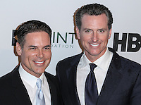 NEW YORK CITY, NY, USA - APRIL 07: Jorge Valencia, Gavin Newsom at the Point Honors New York Gala 2014 held at the New York Public Library on April 7, 2014 in New York City, New York, United States. (Photo by Jeffery Duran/Celebrity Monitor)
