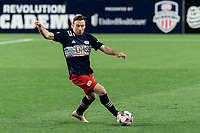 FOXBOROUGH, MA - APRIL 24: Tommy McNamara #26 of New England Revolution controls the ball during a game between D.C. United and New England Revolution at Gillette Stadium on April 24, 2021 in Foxborough, Massachusetts.