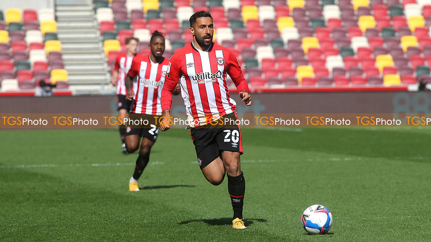Saman Ghoddos of Brentford in action during Brentford vs Watford, Sky Bet EFL Championship Football at the Brentford Community Stadium on 1st May 2021