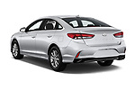 Car pictures of rear three quarter view of a 2018 Hyundai Sonata Eco 4 Door Sedan angular rear