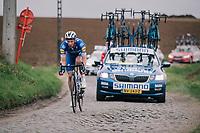 Iljo KEISSE (BEL/Deceuninck-Quick Step)<br /> <br /> 74th Omloop Het Nieuwsblad 2019 <br /> Gent to Ninove (BEL): 200km<br /> <br /> ©kramon