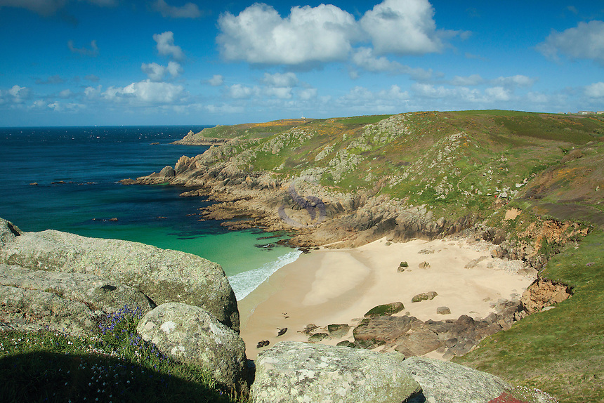 Secluded bay near Porthcurno, Cornwall