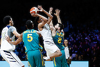 July 14, 2016: STEPHEN THOMPSON JR (2) of the Oregon State Beavers takes a shot during game 2 of the Australian Boomers Farewell Series between the Australian Boomers and the American PAC-12 All-Stars at Hisense Arena in Melbourne, Australia. Sydney Low/AsteriskImages.com