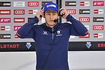 Leonhard Pföderl (Nr.93 - Eisbären Berlin) vor dem Spiel gegen den ERC Ingolstadt im Interview bei Magenta Sport beim Spiel im Halbfinale der DEL, ERC Ingolstadt (dunkel) - Eisbaeren Berlin (hell).<br /> <br /> Foto © PIX-Sportfotos *** Foto ist honorarpflichtig! *** Auf Anfrage in hoeherer Qualitaet/Aufloesung. Belegexemplar erbeten. Veroeffentlichung ausschliesslich fuer journalistisch-publizistische Zwecke. For editorial use only.