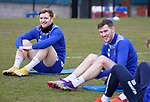 St Johnstone Training... 02.03.21<br />Liam Craig and Jamie McCart back in training ahead of tomorrow's game against Hamilton Accies after winning the BETFRED Cup on Sunday.<br />Picture by Graeme Hart.<br />Copyright Perthshire Picture Agency<br />Tel: 01738 623350  Mobile: 07990 594431