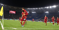 Football, Serie A: AS Roma - AC Milan, Olympic stadium, Rome, October 27, 2019. <br /> Roma's Nicolò Zaniolo (l) celebrates after scoring with his teammates during the Italian Serie A football match between Roma and Milan at Olympic stadium in Rome, on October 27, 2019. <br /> UPDATE IMAGES PRESS/Isabella Bonotto