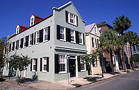Old Southern Retored buildings on Church Street in Historical Charleston, South Carolina, USA