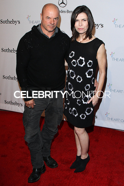 """HOLLYWOOD, LOS ANGELES, CA, USA - FEBRUARY 26: Russell Young, Finola Hughes at The Art Of Elysium's 7th Annual """"Pieces Of Heaven"""" Charity Art Auction held at Siren Studios on February 26, 2014 in Hollywood, Los Angeles, California, United States. (Photo by David Acosta/Celebrity Monitor)"""