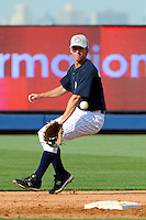 Staten Island Yankees infielder Casey Stevenson (35) during first team workout at Richmond County Bank Ballpark at St. George in Staten Island, NY June 15, 2010.  Photo By Tomasso DeRosa/ Four Seam Images