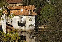 Europe/France/Aquitaine/24/Dordogne/Vallée de la Dronne/Périgord Blanc/Bourdeilles: Détail d'un moulin