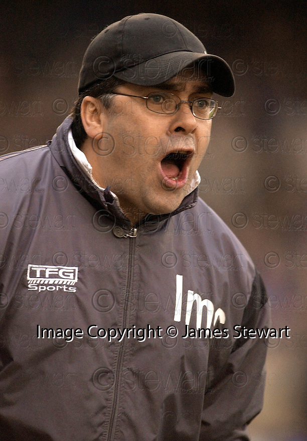 05/02/2005  Copyright Pic : James Stewart.File Name : jspa18_qots_v_dundee_utd.DUNDEE UTD MANAGER IAN MCCALL DURING THE SCOTTISH CUP 4TH ROUND CLASH AGAINST QUEEN OF THE SOUTH...Payments to :.James Stewart Photo Agency 19 Carronlea Drive, Falkirk. FK2 8DN      Vat Reg No. 607 6932 25.Office     : +44 (0)1324 570906     .Mobile   : +44 (0)7721 416997.Fax         : +44 (0)1324 570906.E-mail  :  jim@jspa.co.uk.If you require further information then contact Jim Stewart on any of the numbers above.........A