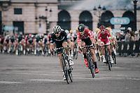 Jaco Venter (ZAF/Dimension Data) & Lars Bak (DEN/Lotto-Soudal) leading the way<br /> <br /> 104th Tour de France 2017<br /> Stage 21 - Montgeron › Paris (105km)