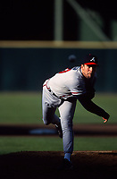 SAN FRANCISCO, CA:  John Smoltz of the Atlanta Braves pitches during a game against the San Francisco Giants at Candlestick Park in San Francisco, California on August 9, 1998. (Photo by Brad Mangin)