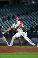 Clemson Tigers relief pitcher Alex Eubanks (16) in action against the Duke Blue Devils in Game Three of the 2017 ACC Baseball Championship at Louisville Slugger Field on May 23, 2017 in Louisville, Kentucky. The Blue Devils defeated the Tigers 6-3. (Brian Westerholt/Four Seam Images)