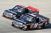 NASCAR Camping World Truck Series<br /> Bar Harbor 200<br /> Dover International Speedway, Dover, DE USA<br /> Friday 2 June 2017<br /> Noah Gragson, Switch Toyota Tundra and Ben Rhodes, Safelite Auto Glass Toyota Tundra<br /> World Copyright: Nigel Kinrade<br /> LAT Images<br /> ref: Digital Image 17DOV1nk05178