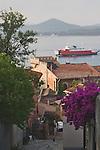 Ferries at Portoferraio; Portoferraio, Porto Ferraio, Porto Argo, Elba; Province of Livorno; Mediterranean Sea; Tyrrhenian Sea; Tuscan archipelago, Italy; West coast of Italy, Italian Coast, Tuscan coast,