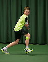 Rotterdam, The Netherlands, 15.03.2014. NOJK 14 and 18 years ,National Indoor Juniors Championships of 2014, Jesper de Jong (NED)<br /> Photo:Tennisimages/Henk Koster